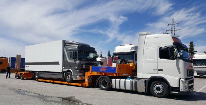 Sigr Bizjak izredni prevoz bel tovornjak/iz strani