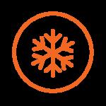 ikona za globoko zamrznjen tovor