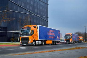 Sigr Bizjak tovorna vozila med vožnjo