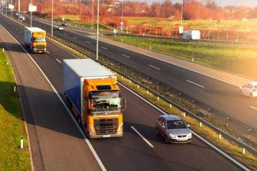 Sigr Bizjak tovorni vozili med vožnjo